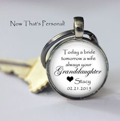 Grandfather of the Bride gift - Today a Bride Tomorrow a Wife Always your Granddaughter personalized with name and date of wedding by NowThatsPersonal, $15.95