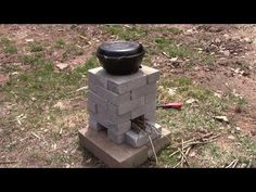 DIY Brick Rocket Stove – Cooking Without Power - Everything About Camping Tools Camping Tools, Camping Survival, Survival Skills, Survival Shelter, Emergency Preparation, Emergency Preparedness, Hurricane Preparedness, Rocket Stove Design, Diy Rocket Stove