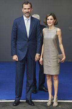 Queen Letizia & King Felipe visit Telecinco Tv Channel
