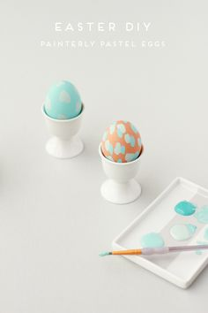pastel everything please. lovely DIY by @Brittni Wood Mehlhoff // wood painted pastel easter eggs