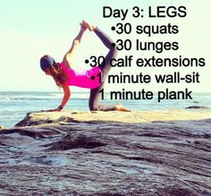 Legs fitness routine