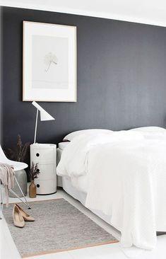 home style | bedroom design | dark feature wall | interior design