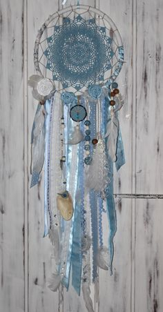 attrape rêve bleu romantique.Dream catcher