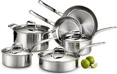 Lagostina Martellata Tri-ply Hammered Stainless Steel Dishwasher Safe Oven Safe Cookware Set – Home & Living – Home Improvement Ideas and Inspiration Copper Cookware Set, Cast Iron Cookware, Stainless Steel Casting, Stainless Steel Dishwasher, Safest Cookware, Pots And Pans Sets, Kitchen Stove, Pan Set, Hammered Copper