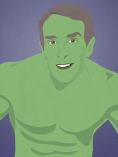 Bill Nye as Hulk | Bill Nye, LeVar Burton, And Other Childhood Favorites As Superheroes