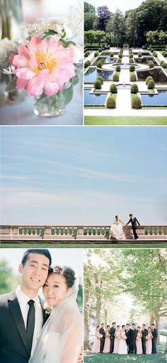 Formal Castle Garden Wedding