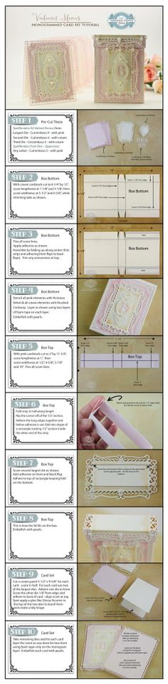 Valiant Honor Monogram Card Set Tutorial by Becca Feeken
