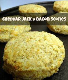 Cheddar Jack & Bacon Scones Recipe