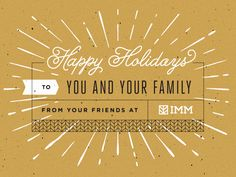 Holiday Card by IMM | gold overload. spamming my board with gold colour today due to a project i'm working on just now