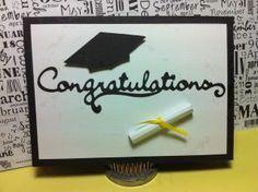 Graduation Card. Cricut, Martha Stewart Seasonal Cake Art.