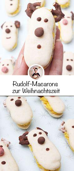 Diese lustige Rudolf-Macarons dürfen an Weihnachten nicht fehlen. Diese Macarons Rentier Rezept mit Lemon Curd ist einfach zu machen. #weihnachtsplätzchen #weihnachtsplätzchenrezept #einfach #macarons #backen #weihnachten #rentiere French Macaroon Recipes, French Macaroons, All You Need Is, Sweet Bakery, Cupcakes, Lemon Curd, Doughnut, Sweets, Desserts