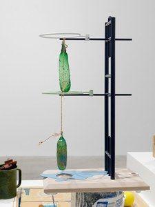 Helen Marten Installation view, Eucalyptus, Let us in, Greene Naftali, New York , 2016 Photograph: Annik Wetter, Geneva