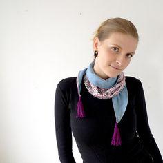 tassel fashion scarf vintage fabric with jersey lining von Joik, €38,00