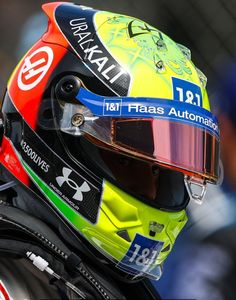Mick Schumacher, Helmets, Formula 1, F1, Under Armour, Drawing, Pictures, Hard Hats, Sketches