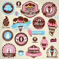 Vintage Eis Etikett Vorlage                                                                                                                                                      Mehr