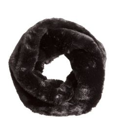 Twisted tube scarf in soft faux fur.