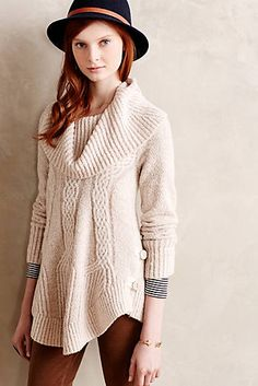 Cabled Boucle Pullover anthropologie.com
