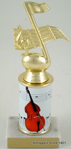 The Musical trophy featuring your specific musical instrument!  Everthing from the trumpet to drums!