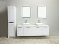 Eviva Luxury 72-inch White bathroom cabinet only