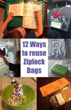 ways to resue ziplocks