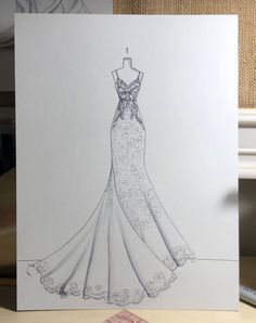 Finished Illustration of an Enzoni wedding gown. This is NOT a listing for a custom bridal illustration. This is an already finished product. Finished Illustration of an Enzoni wedding gown. This is NOT a listing for a cus. Illustration Art Drawing, Fashion Illustration Sketches, Fashion Sketches, Drawing Art, Art Sketches, Illustrations, Dress Design Sketches, Fashion Design Drawings, Dress Drawing