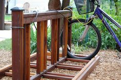 Bike Rack made from an Old Fence   Joy ever after :: details that make life loveable