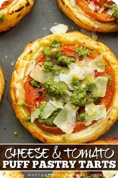 Puff Pastry Recipes, Tart Recipes, Appetizer Recipes, Cooking Recipes, Vegetarian Finger Food, Vegetarian Recipes, Easy Finger Food, Easy Food To Make, Tomato Tart Puff Pastry
