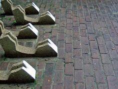 Concrete bicycle rack. Functional yet beautiful.