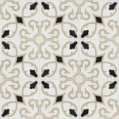Villa Lagoon Tile Charlotte Primero 8 x 8 Cement Field Tile Ceramic Subway Tile, Glass Subway Tile, Stone Mosaic Tile, Tile Projects, Commercial Flooring, Hexagon Shape, Decorative Tile, Tile Patterns, Wall Tiles