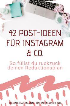 42 Content-Ideen, die in Social Media immer funktionieren Instagram Hacks, Instagram Stats, Instagram Marketing Tips, Instagram Blog, Inbound Marketing, Marketing Pdf, Content Marketing Strategy, Marketing Automation, Marketing Ideas