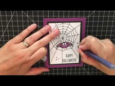 How to create fast and simple Halloween Cards. - YouTube
