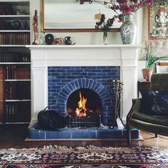 4 Magical Hacks: Fireplace Tile Stencil small fireplace dream homes.Off Center Fireplace Ideas fake electric fireplace.Limestone Fireplace Luxury Homes. Fireplace Mantle Designs, Brick Fireplace Mantles, Painted Brick Fireplaces, Fireplace Redo, Open Fireplace, Fireplace Surrounds, Painted Mantle, 1930s Fireplace, Fireplace Candles