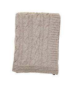 Knit blanket from Bloomingville