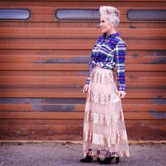 These Sequins Again - Chic Over 50 Platinum Pixie, Chic Over 50, Turning 50, Lace Skirt, Fashion Ideas, Cool Style, Summer Outfits, Sequins, Meme