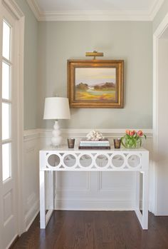 great modern traditional mix - entry styling