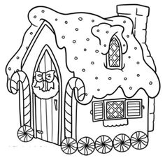 gingerbread house coloring pages for toddlers | Gingerbread House Coloring Page >> Disney Coloring Pages