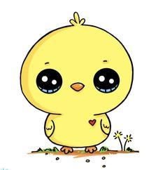 Kawaii Girl Drawings, Cute Little Drawings, Cute Food Drawings, Cute Animal Drawings Kawaii, Cute Kawaii Animals, Girl Drawing Sketches, Art Drawings For Kids, Colorful Drawings, Cartoon Drawings
