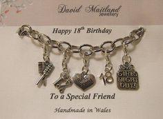 Friend 18th Birthday Lucky Charm Bracelet