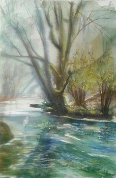 """""""Landscape"""" Watercolour,paper Arches Size 38*56cm."""
