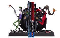 Batman Joker and Harley Bookend Statue