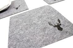 Manteles individuales ciervo #DaWanda #Diseño #handmade #hechoamano #Deer #Ciervo
