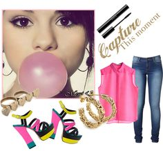 Bubble Gum Girl, created by sheofmedia on Polyvore