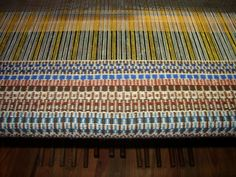 Krokbragd stair runner in progress