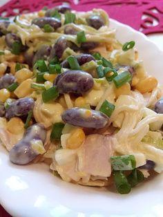 Sałatka z czerwoną fasolką Tortellini, Pasta Salad, Potato Salad, Food And Drink, Tasty, Favorite Recipes, Lunch, Snacks, Dinner
