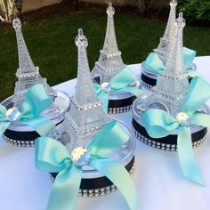 Decent finalized quinceanera party decorations you could try these out Paris Theme Centerpieces, Eiffel Tower Centerpiece, Small Centerpieces, Paris Quinceanera Theme, Quinceanera Decorations, Quinceanera Party, Paris Prom Theme, Thema Paris, Paris Sweet 16