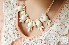 GroopDealz | Lilly Beaded Statement Necklace - FREE SHIPPING
