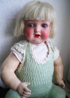 Süße alte Heubach Köppelsdorf Baby Puppe Porzellankopf, old german doll   eBay