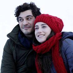 They are so beautiful. (new photo of the seson 🤗❤ . Hayat And Murat, Nail Design Video, Turkish Beauty, Beautiful Couple, Season 1, Jon Snow, Winter Hats, Couples, Madness