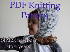 PDF KNITTING PATTERN baby bonnet pattern by MyCherryBlossomKnits