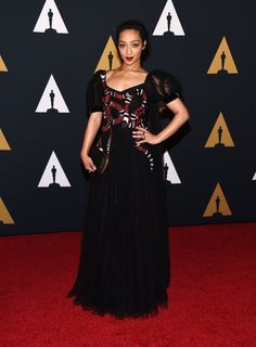Ruth Negga's Governors Award Gucci red carpet look is winning.